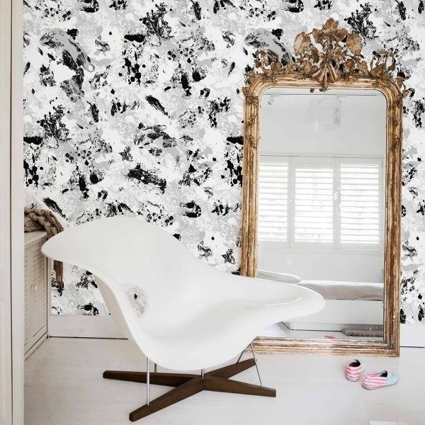 papier peint pollock coordonn. Black Bedroom Furniture Sets. Home Design Ideas