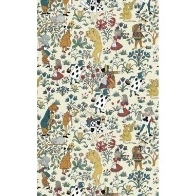 Papier peint Alice In Wonderland Cream  House of Hackney