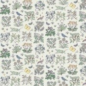 Tissu Voysey's Garden Off White House of Hackney