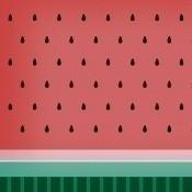 Panneau Fruit Watermelon  Red Coordonné