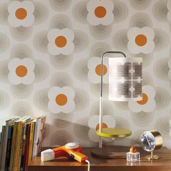 papier peint striped petal orla kiely. Black Bedroom Furniture Sets. Home Design Ideas