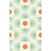 Papier peint Striped Petal Graphite Orla Kiely