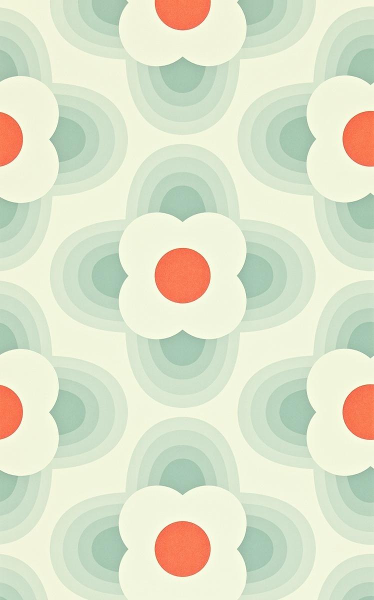 papier peint striped petal orla kiely. Black Bedroom Furniture Sets. Home Design Ideas