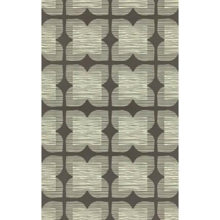 Papier peint Flower Tile Orla Kiely Graphite 110420 Orla Kiely