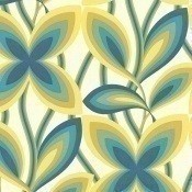 Papier peint Starflower Platinum Little Greene