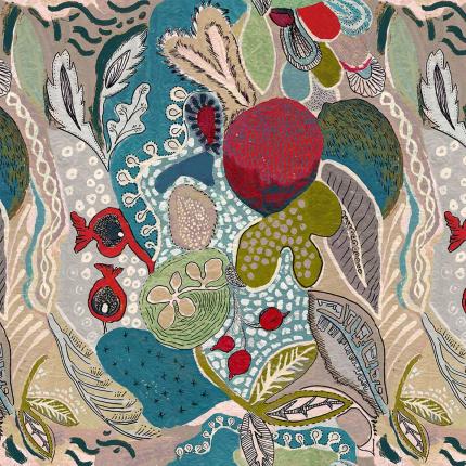 Tissu Titaïna Lalie Design Bleu TITABLE Lalie Design