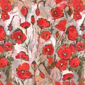 Tissu Love Rouge Lalie Design