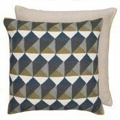Coussin Escher Slate/Olive Niki Jones