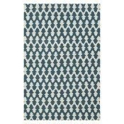 Tapis Lattice Crewel Teal/Ecru Niki Jones
