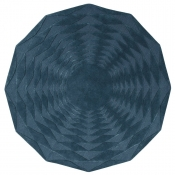 Tapis Polygon bleu 100 cm Niki Jones