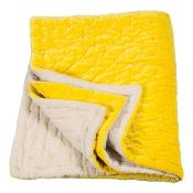 Jeté de lit Velvet Linen Chartreuse/Linen Niki Jones