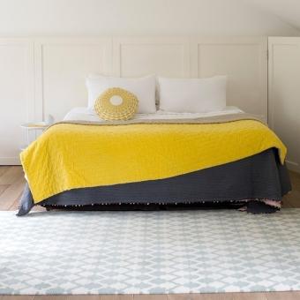 Bed cover Velvet Linen Chartreuse/Linen Niki Jones