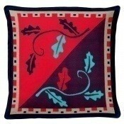 Coussin Ayar Rouge/Turquoise Aubusson Création