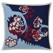 Coussin Bayeux Bleu/Rouge Aubusson Création