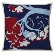 Coussin Beauvais Bleu/Rouge Aubusson Création