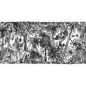 Tapisserie Jungle Noir/Blanc Les Ateliers d'Aubusson