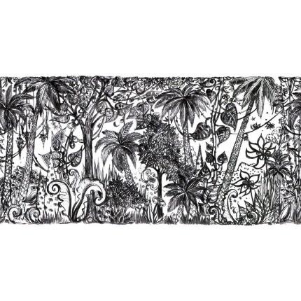 Tapisserie Jungle Aubusson Création Noir/Blanc Tapisserie Jungle Aubusson Création