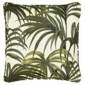 Coussin Palmeral Off White/Green 45x45 cm House of Hackney