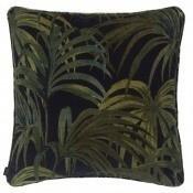 Coussin Palmeral Midnight/Green Velvet 45x45 cm House of Hackney