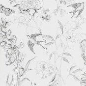 Papier peint Sibylla Garden Black and White Designers Guild