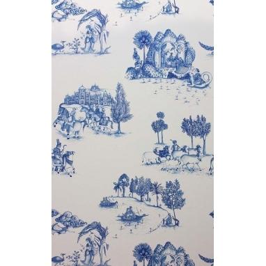 Papier peint Zanskar Blue/White Matthew Williamson
