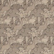 Tissu Creatures Natural Linen Rhino Liberty