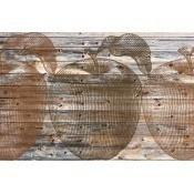Panneau Rust Apples Bois Texam Home