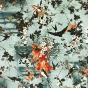 Papier peint Hirondelle Printemps Jean Paul Gaultier
