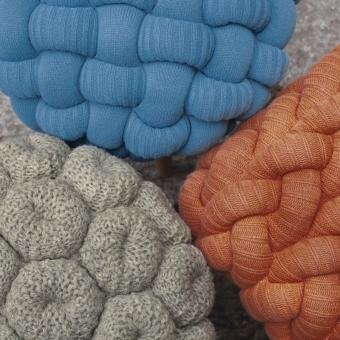 Knitted Orange Stool Orange Gan Rugs