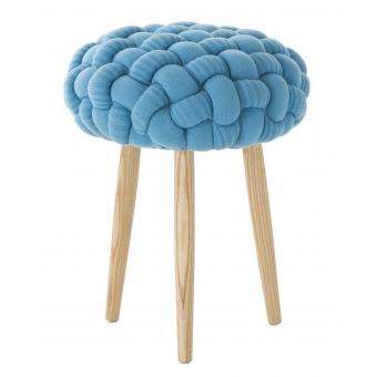 Knitted Blue Stool Azul Gan Rugs