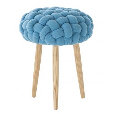 Tabouret Knitted Blue Azul Gan Rugs