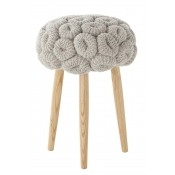 Tabouret Knitted Grey Grey Gan Rugs