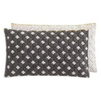 Silaï Rectangle Cushion Celadon/Light Grey Gan Rugs
