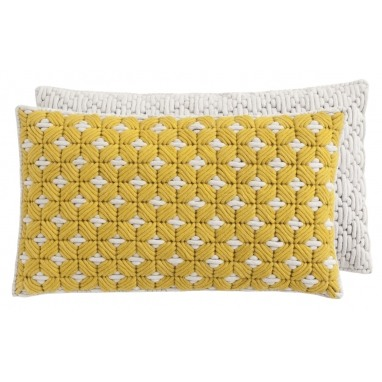 Coussin Silaï Rectangle Yellow-White Gan Rugs