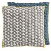 Coussin Silaï Carré Light grey-Blue Gan Rugs