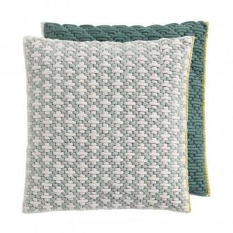 Silaï Carré Cushion Celadon/Green Gan Rugs