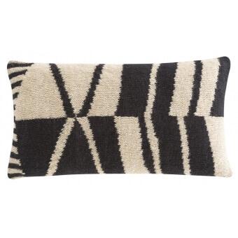 Geo Black&White Cushion Black/White Gan Rugs