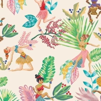 Papier peint Calypso Dancers Coordonné Hueso 5900073 Coordonné