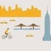 Panneau Mural Time Square Yellow Coordonné