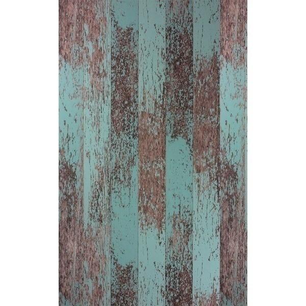 Driftwood Wallpaper Osborne And Little Teal Metallic Cooper W7021 04