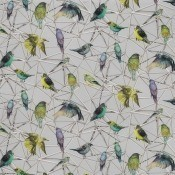 Tissu Aviary Yellow/Soft Grey Osborne and Little