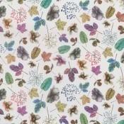 Tissu Woodland Fuchsia/Teal Osborne and Little