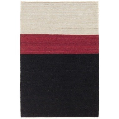 Tapis Colour 2 Black/Red Nanimarquina