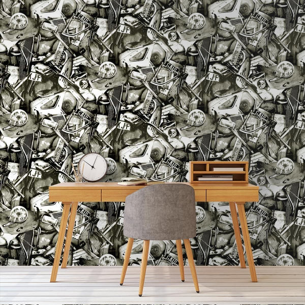 papier peint c sar jean paul gaultier. Black Bedroom Furniture Sets. Home Design Ideas