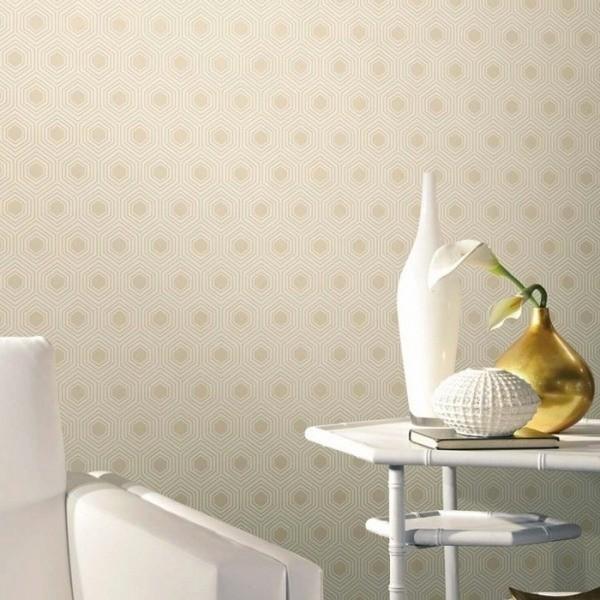 papier peint hexagone nobilis. Black Bedroom Furniture Sets. Home Design Ideas