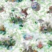 Tissu Reveries  Vert Buis Christian Lacroix