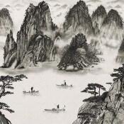 Panneau Sumi Encre Chinoise Coordonné