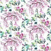 Tissu Chinoiserie Flower Outdoor  Peony Designers Guild