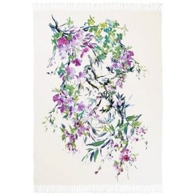 Plaid Faience Blanc 190x130 cm Designers Guild