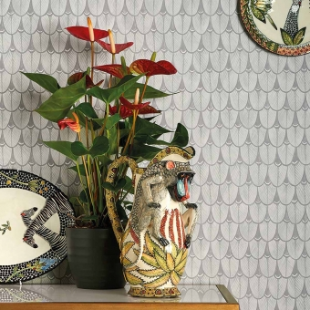 Narina Wallpaper Beige Cole and Son